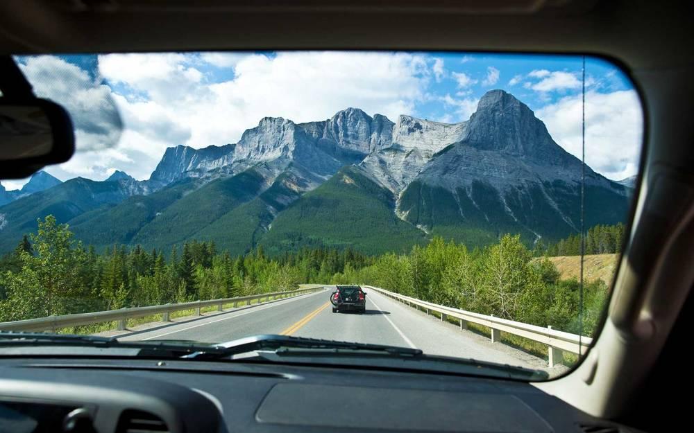 Mountain range road trip