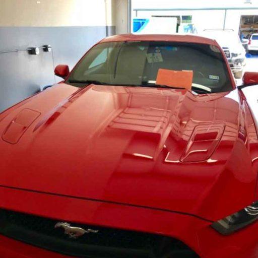 Mustang in shop